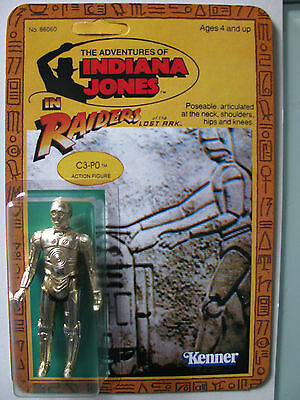 VINTAGE KENNER C3PO ON RAIDER OF THE LOST ARK CUSTOM CARD YES ITS TRUE