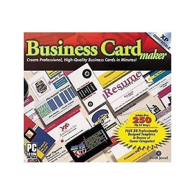 Business Card Maker - Cosmi Create Professional High Quality Clip Art PC NEW