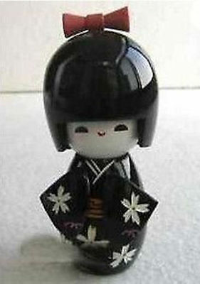 wonderful collectibles Japanese Kokeshi black wooden doll