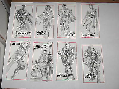 1995 DC Kingdom Come (EXTRA) Xtra SKETCHBOARD CHASE INSERT COMPLETE SET! NEW 52!
