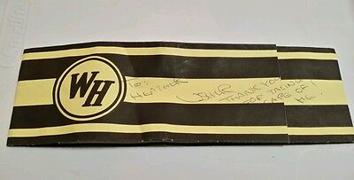 Waffle house paper hat USHER Autographed 2005