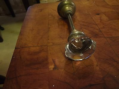 antique crystal and bronze door knobs with spindle