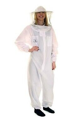 Buzz Work Wear Basic Cotton Beekeepers Bee Suit: Medium