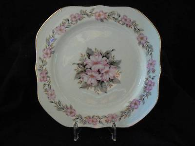 Lynnwood by Hira China Square Salad Plate Pink Dogwood Bouquet L50