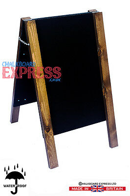 Wooden-A-Board-Pavement-Sign-Sandwich-Shop-Cafe-Street-Advertising-Chalkboard