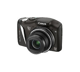 Canon PowerShot SX130 IS 12.1 MP Digital Camera - Black