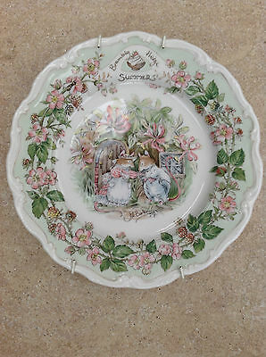 Royal Doulton Bone China Plate 'Summer' from the Brambly Hedge Collection