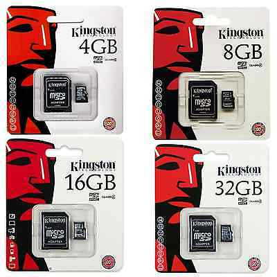 Tarjeta Microsd Memoria Kingston De 4Gb 8Gb 16Gb 32Gb Micro Sd Movil