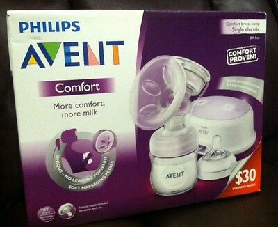 Philips Avent Single Electric Comfort Breast Pump.$30.00 Coupon Inside. OPEN BOX