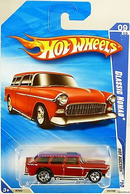 Hot Wheels Classic Nomad Hot Auction '10 #R7592 New in Package Red 3+ 1:64