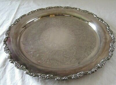 """Vintage Large 15.5"""" Serving Tray Royal Provincial Oneida Silverplate"""