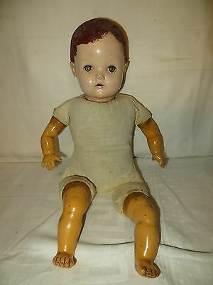 Vintage Horsman Boy Doll with Weighted Eyes and Open Mouth - 18""