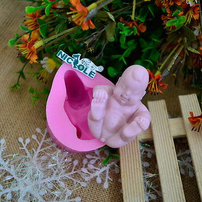 3D Baby Decorative Soap Molds Silicone Resin Clay Crafts Chocolate Candy Mould