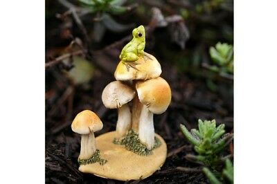 My Fairy Gardens Mini - Frog On Mushrooms - Supplies Accessories