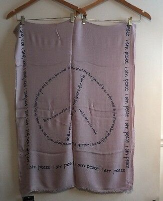 Peace Love World Love And Peace Laven Viscose Scarf  New With Tag