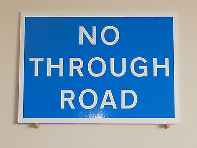 No Through Road Sign.  For private land, farms etc.  Plastic Sign  (PL-103)
