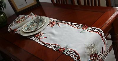 "1p Vintage polyester Table runner 11""x62.2""~item no 479"