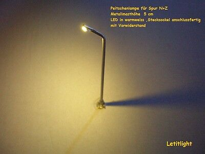 10 Pcs LED-Whip Lampe in warm white for N gauge and Z