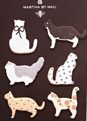 Martha Stewart by Mail Large Copper Cookie Cutters Set of 5 CATS  w Recipe Book