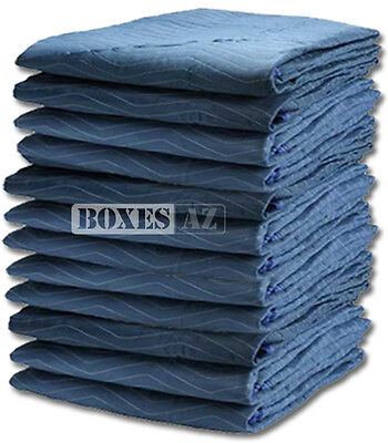 "Moving Blankets - 12 PC Padded Furniture Pads 72"" x 80"" Blankets"