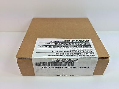 Sealed New! Ge Fanuc 32M Expandable User Memory Ic754Acc32Mem-A Ic754Acc32Mem