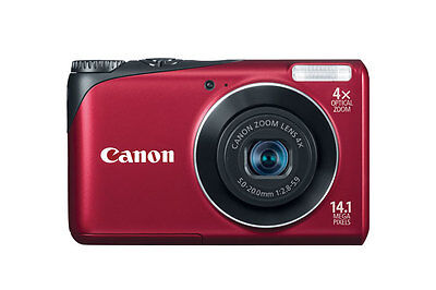 Canon PowerShot A2200 14.1 MP Digital Camera Red New!