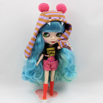 """12"""" Neo Nude  Curly Hair Blythe doll From Factory  JSW23009"""