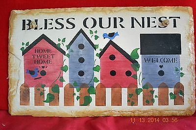 Slate Bless Our Nest Welcome Sign