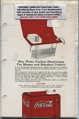 Vintage 1940's Coca-Cola Advertising: Water Cooler Attachments