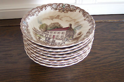 Johnson Bros Heritage Hall 4411 Pennsylvania Fieldstone Set of 8 Cereal Bowls