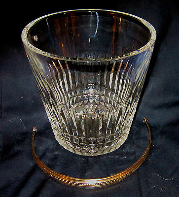 1930's/40's Early/Vtg Baccarat Cut Crystal Ice Bucket & Handle w/ Watermark EXC