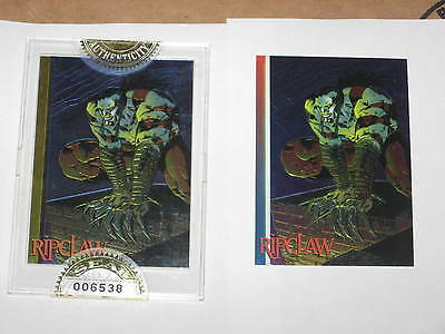 1993 Wizard Magazine RIPCLAW #5 FACTORY SEALED GOLD Promo Card MARC SILVESTR!