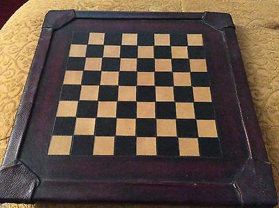 LEATHER BOUND CHESS BOARD