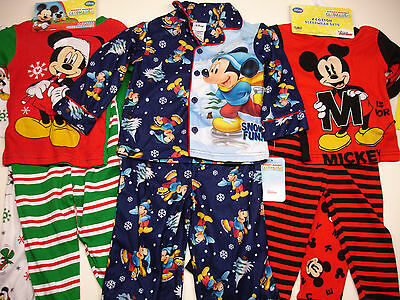 DISNEY MICKEY MOUSE CHRISTMAS PAJAMAS Set of 2-piece SIZE 2T 3T 4T NEW!