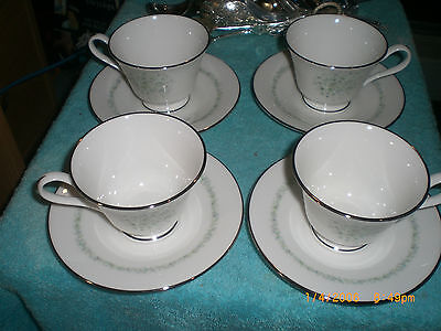 4 Sets of 2pc - Oxford China Meadowlark Tea Cup & Saucer Mint Condition
