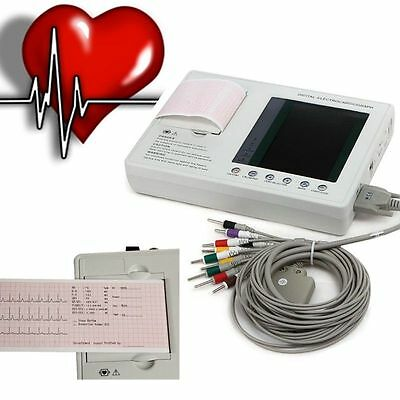 7 Inch Digital 6-channel Electrocardiograph ECG EKG Machine Free PC Software