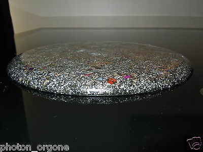 Orgone Oval Food/Water/Crystal Charging Plate/Board/Placemat 32x22cm 23k Gold