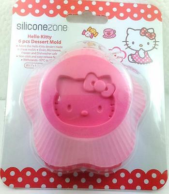*NEW* SiliconeZone Hello Kitty Silicone Cupcake Mold / Muffin Cup - Set of 6