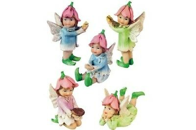 Miniature Dollhouse FAIRY GARDEN - Petal Fairies Set of 5 - Accessories