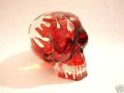 See Through clear Fire solid New Skull Shifter gear Shift Knob Custom Zombie