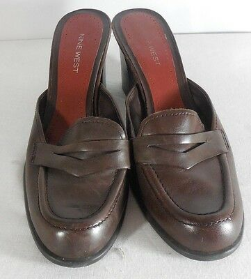 8bf65194ef5 AEROSOLES WOMEN S BROWN Suede Leather Penny Loafer Heels Size 6.5 ...