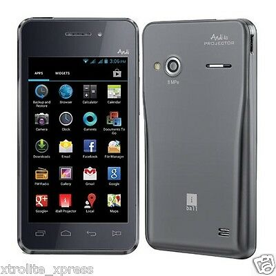 New Launch iBall Projector Andi4a Unlocked Dual Sim 4inch 1.2Ghz 8MP 35 Lumens
