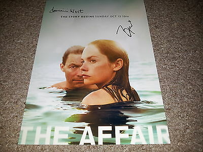"The Affair Pp Signed 12""x8"" A4 Photo Poster Dominic West Ruth Wilson"