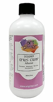 Art Institute Glitter Adhesive Designer Glue Dries Clear (8 oz) Liquid LG REFILL