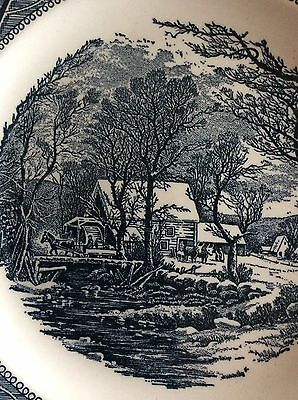 Reduced 2 Sell 2 Dinner Plates - Royal China Currier & Ives Cavalier Ironstone