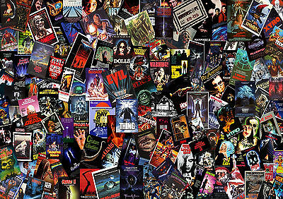 Horror Movie Collage Wall Art - One Piece Poster (A1 - A5 Sizes)