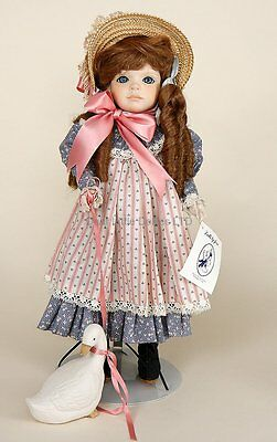 Goose Girl porcelain collectible doll by Jerri McLoud