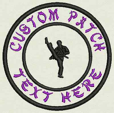 Martial Arts Custom Embroidered Tag, Patch, Badge Iron On or Sew On - 3.50""