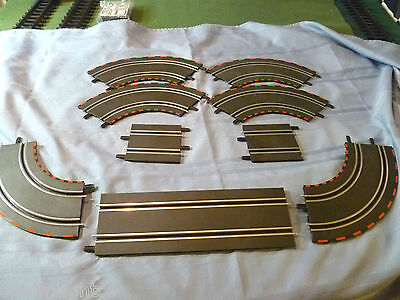 CARRERA GO 9 PCS SLOT CAR TRACK LOT, 1:43 SCALE SEE PICTURES