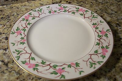 FRANCISCAN LUNCHEON PLATE WOODSIDE PATTER 9 1/8 inches MULTI PINK GREEN IVORY